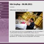 Hjemmeside til bryllupet