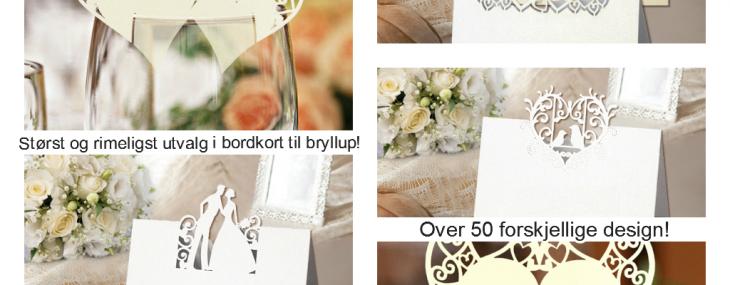 2014 – Massevis av unike produkter til bryllupet
